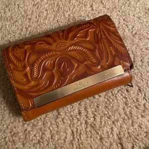 Patricia Nash tooled leather wallet